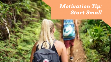 Increase fitness motivation by 'starting small'