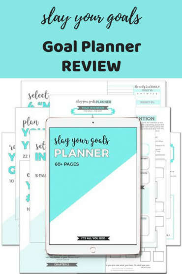 goal planner template - health and fitness goals