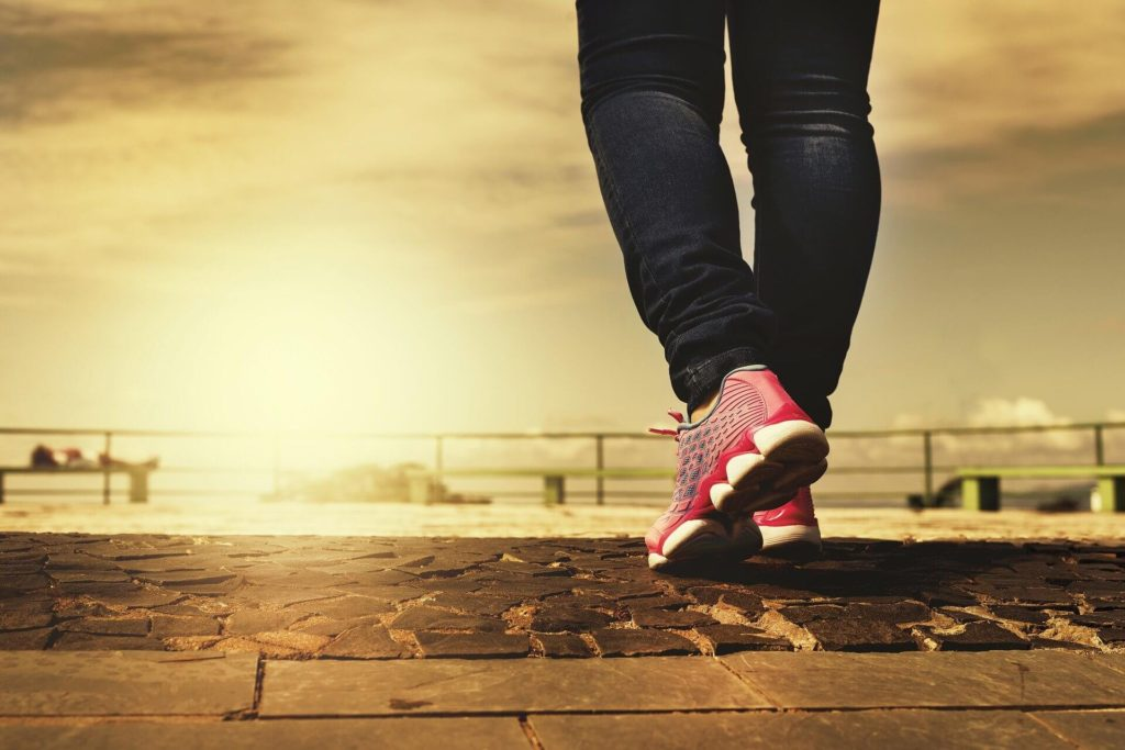 fitness for fun workout ideas - sunset walking