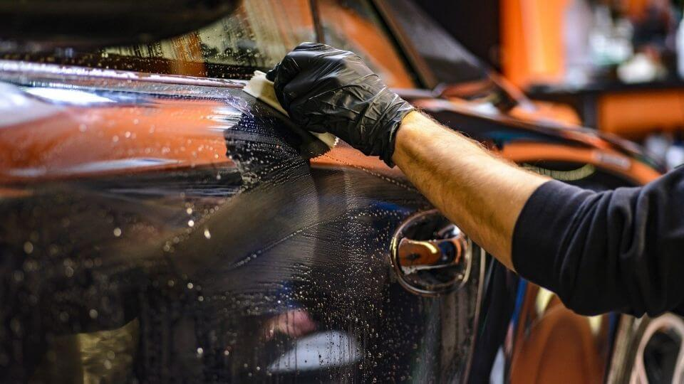 Exercise as Stress Relief-cleaning car