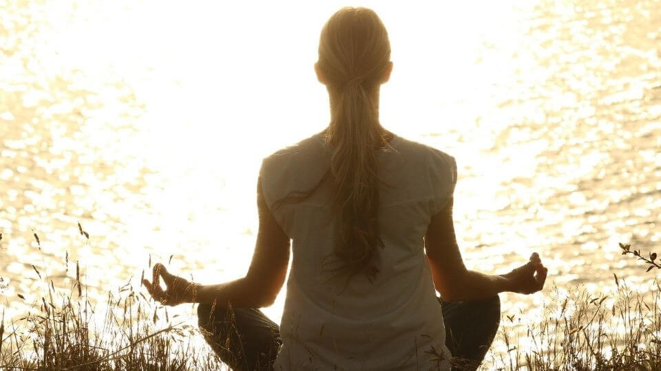 Exercise as Stress Relief-woman meditating