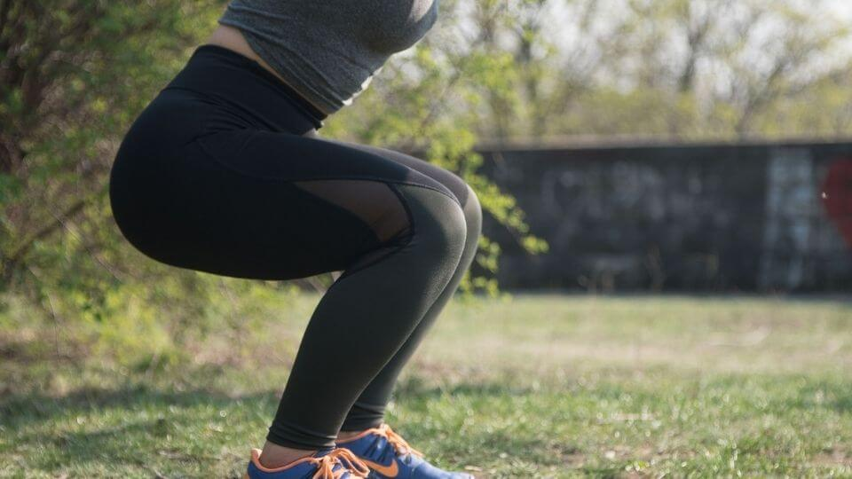 NLP for weight loss - woman doing squat