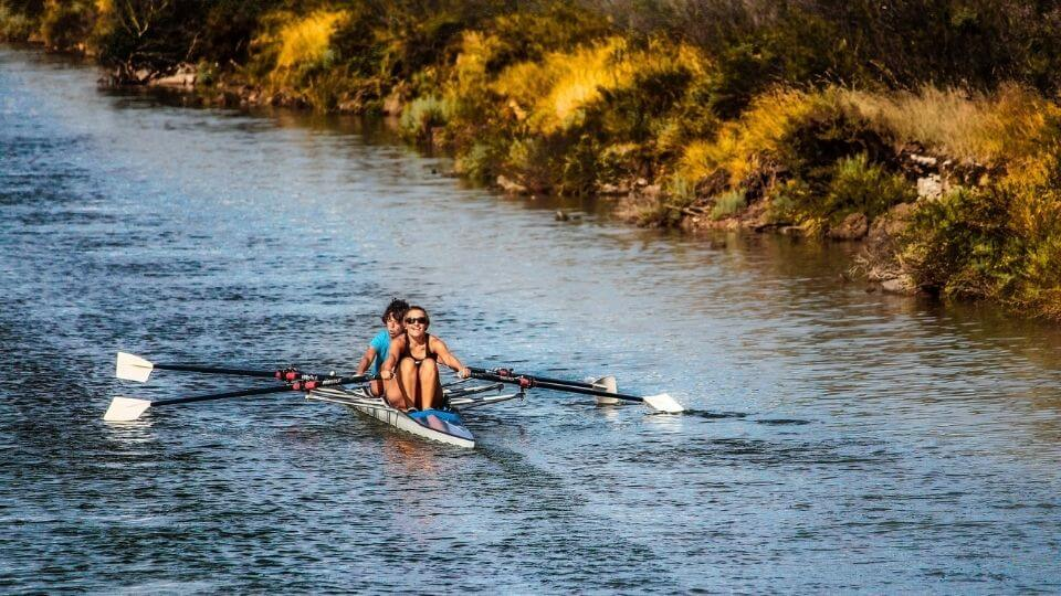 low impact workouts-open water rowing
