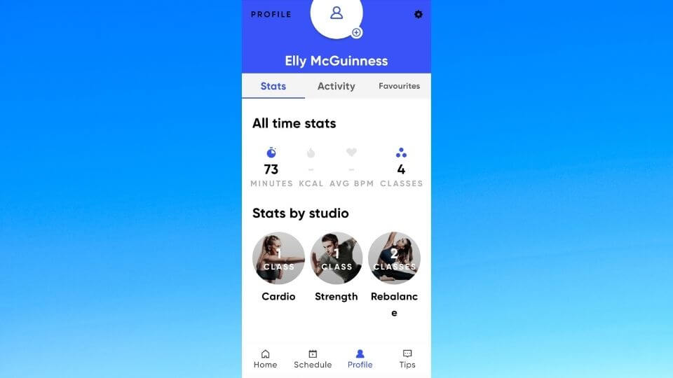 Personal FIIT profile Elly McGuinness-all time stats-classes and studios
