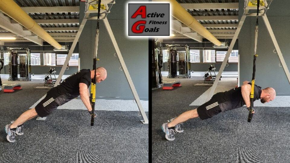 TRX Chest Exercises-Intermediate level Chest Press-Side View