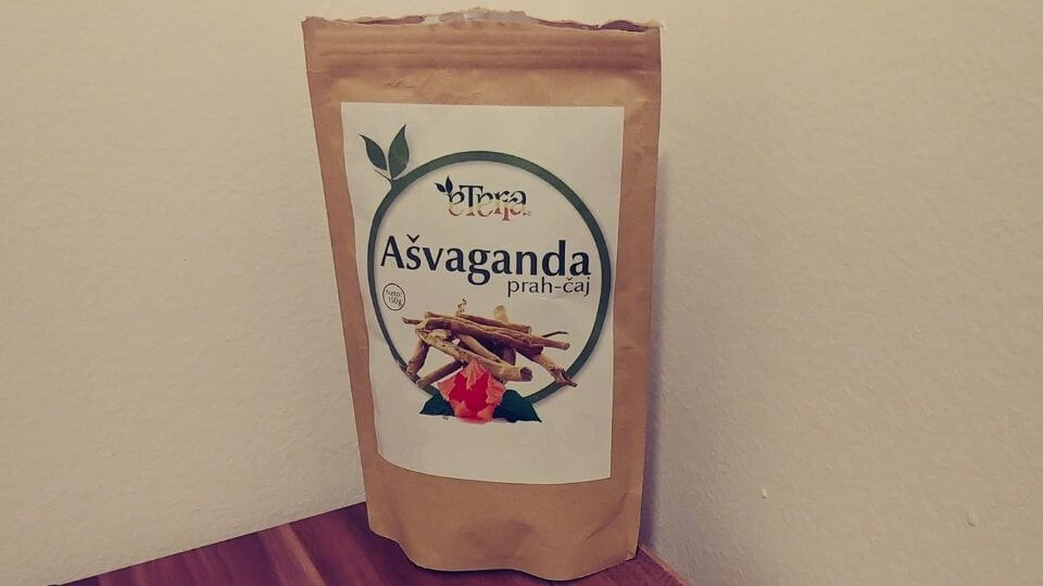 Health benefits of ashwagandha-powdered product example-produced in Serbia
