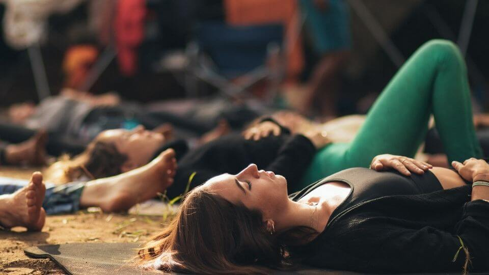 Yoga poses for digestion-lying on back-relaxation for digestion